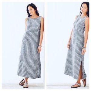 J Jill Love Linen long striped dress